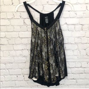 NWOT RUE 21 / lace overlay sparkle tank
